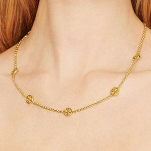 0c993adf1 Tory Burch Jewelry | Capped Crystal Pearl Long Necklace | Poshmark